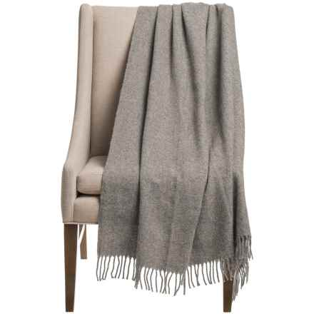 "Faribault Woolen Mill Eco-Woven Wool Throw Blanket - 54x62"" in Gray - Closeouts"