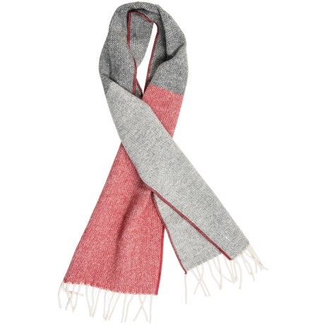 "Faribault Woolen Mills Color-Block Scarf - Merino Wool, 60"" (For Men and Women)"