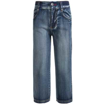 Farm Boy Denim Jeans - Straight Leg (For Little Boys) in Navy - Closeouts