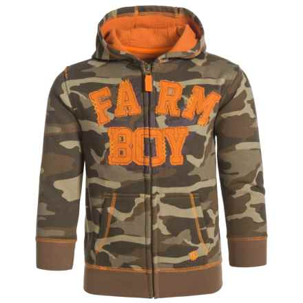 Farm Boy Full-Zip Printed Hoodie (For Little Boys) in Camo - Closeouts