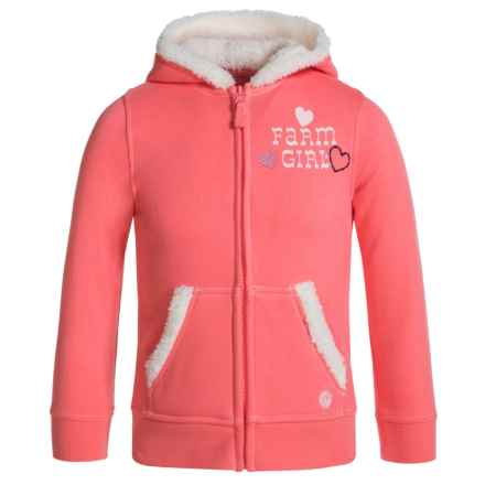 Farm Girl Hoodie (For Little Girls) in Sherbet Pink - Closeouts