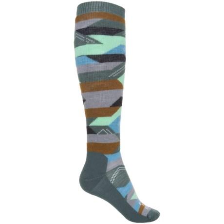 Farm to Feet Billings Everyday Socks - Merino Wool, Over the Calf (For Women) in Balsam