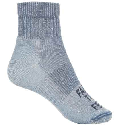 Farm to Feet Boulder Hiking Socks - Merino Wool, Quarter Crew (For Women) in Wooly Blue - Closeouts