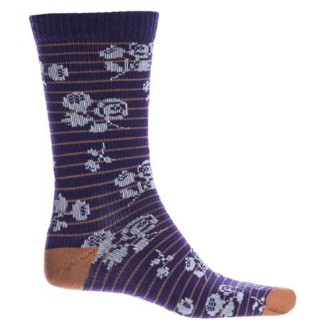 Farm to Feet Catawba Socks - Merino Wool, Crew (For Women) in Parachute Purple/Pecan