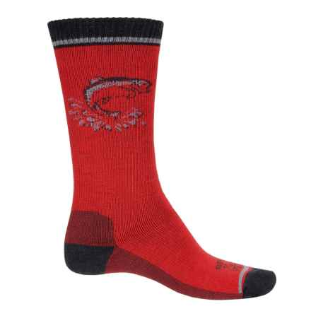 Farm to Feet Concord Fish Everyday Socks - Merino Wool, Crew (For Men) in Formula One/Black - Closeouts
