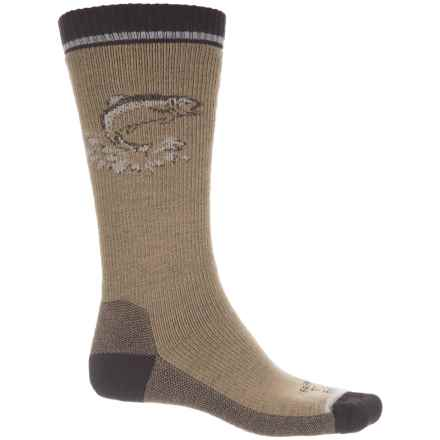 Farm to Feet Concord Fish Everyday Socks - Merino Wool, Crew (For Men) in Lead Grey/Brown - Closeouts
