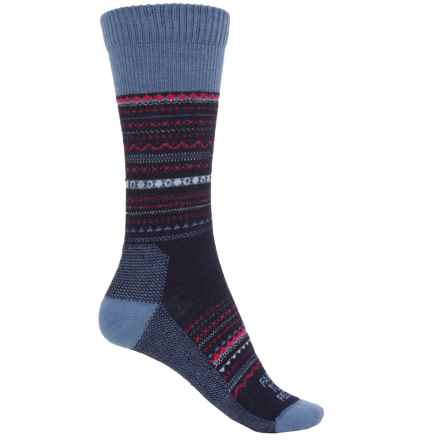 Farm to Feet Conover Fair Isle Socks - Merino Wool, Crew (For Women) in Us Blue Wooly Blue - Closeouts