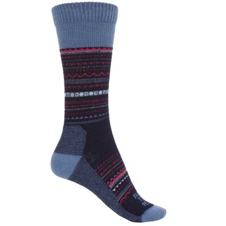 Farm to Feet Conover Fair Isle Socks - Merino Wool, Crew (For Women) in Us Blue Wooly Blue