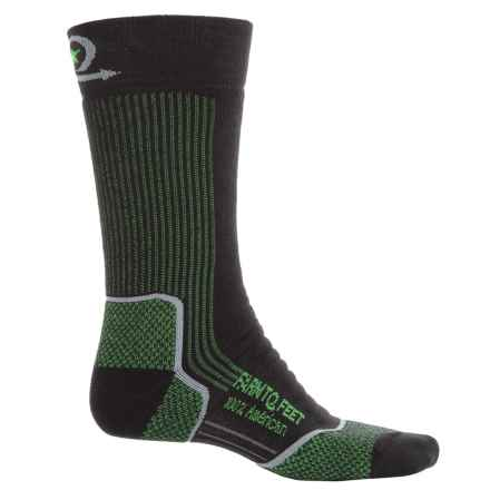 Farm to Feet Damascus Hiking Socks - Merino Wool, Crew (For Men) in Black/Silver - Closeouts