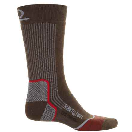 Farm to Feet Damascus Hiking Socks - Merino Wool, Crew (For Men) in Turkish Coffee/Monument - Closeouts