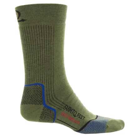 Farm to Feet Damascus Hiking Socks - Merino Wool, Crew (For Men) in Winter Moss/Black - Closeouts