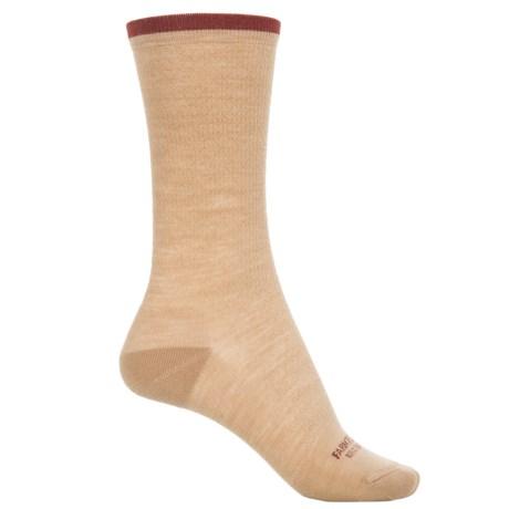 Farm to Feet Dobson Socks - Merino Wool, Crew (For Women) in Curds & Whey