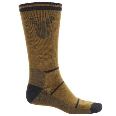 Farm to Feet Englewood Stag Everyday Socks - Merino Wool, Crew (For Men) in Breen/Charcoal - Closeouts
