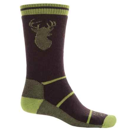 Farm to Feet Englewood Stag Everyday Socks - Merino Wool, Crew (For Men) in Brown/Woodbine - Closeouts