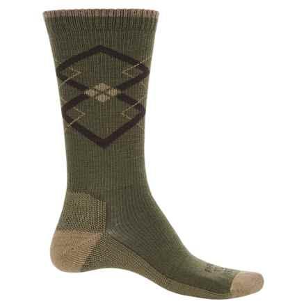 Farm to Feet Fall City Socks - Merino Wool, Crew (For Men) in Khaki/Brown - Closeouts