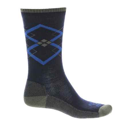 Farm to Feet Fall City Socks - Merino Wool, Crew (For Men) in Us Blue/Olive Night - Closeouts