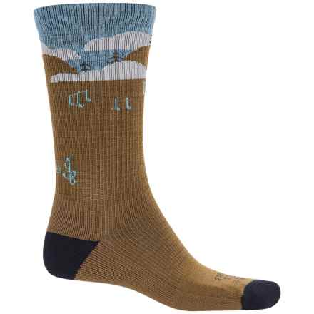 Farm to Feet Floyd Music Festival Everyday Socks - Merino Wool, Crew (For Men) in Breen/Us Blue - Closeouts