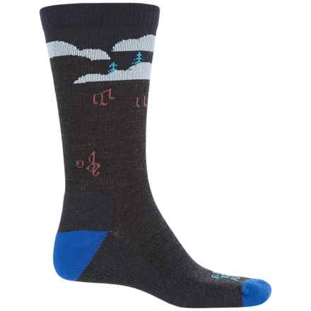 Farm to Feet Floyd Music Festival Everyday Socks - Merino Wool, Crew (For Men) in Charcoal/Surf The Web - Closeouts