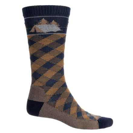 Farm to Feet Franklin Camp Everyday Socks - Merino Wool, Crew (For Men) in Us Blue/Breen - Closeouts