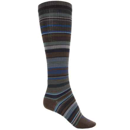 Farm to Feet Ithaca Socks - Merino Wool, Over the Calf (For Women) in Charcoal/Balsam - Closeouts