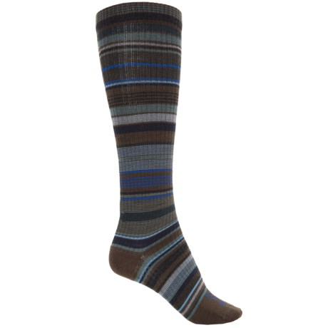 Farm to Feet Ithaca Socks - Merino Wool, Over the Calf (For Women) in Charcoal/Balsam