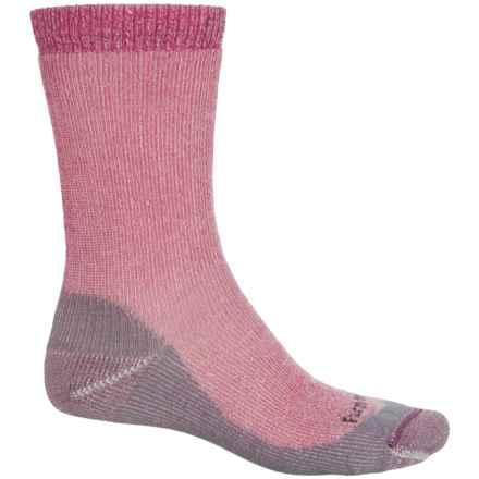Farm to Feet Jamestown Hiking Socks - Merino Wool Blend, Crew (For Women) in Berry - Closeouts