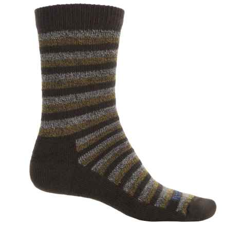 Farm to Feet Kittery Stylized Traditional Hiking Socks - Merino Wool, Crew (For Men) in Brown - Closeouts