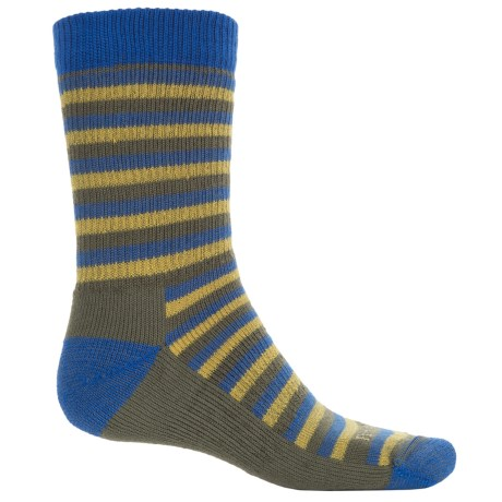 Farm to Feet Kittery Stylized Traditional Hiking Socks - Merino Wool, Crew (For Men) in Surf The Web