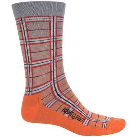 Farm to Feet McComb Plaid Socks - Merino Wool Blend, Crew (For Men) in Orange - Closeouts