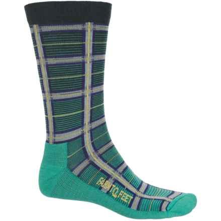 Farm to Feet McComb Plaid Socks - Merino Wool Blend, Crew (For Men) in Teal - Closeouts