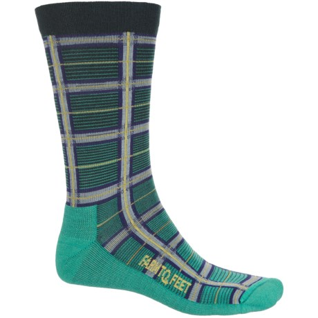 Farm to Feet McComb Plaid Socks - Merino Wool Blend, Crew (For Men) in Teal