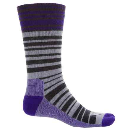 Farm to Feet Mount Airy Super Stripe Everyday Socks - Merino Wool, Crew (For Men) in Parachute Purple/Charcoal - Closeouts