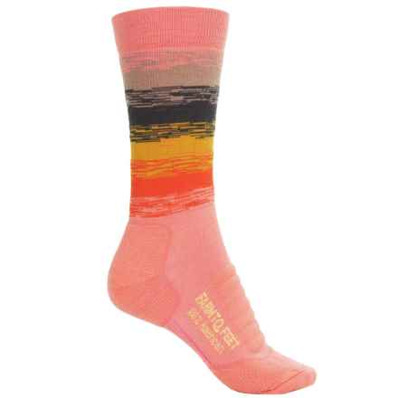 Farm to Feet Ocracoke Sunrise Hiking Socks - Merino Wool, Crew (For Women) in Wild Orchid/Tiger Lily - Closeouts