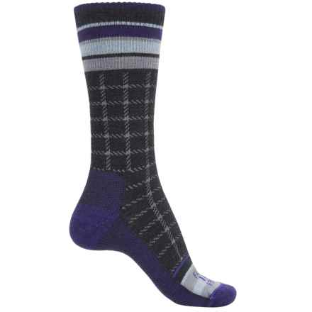 Farm to Feet Portland Socks - Merino Wool, Crew (For Men) in Parachute Purple/Charcoal - Closeouts