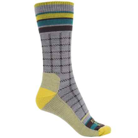 Farm to Feet Portland Socks - Merino Wool, Crew (For Men) in Platinum/Lemon Curry - Closeouts