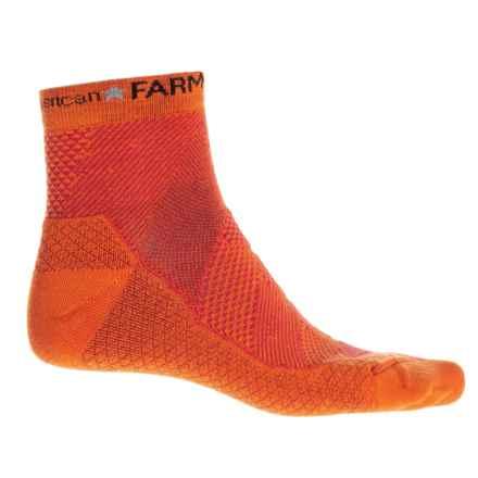 Farm to Feet Raleigh Socks - Merino Wool, Quarter Crew (For Men) in Orange - Closeouts