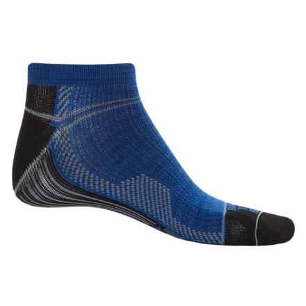 Farm to Feet Roanoke Run Sporting Socks - Merino Wool, Ankle (For Men) in Surf The Web - Closeouts