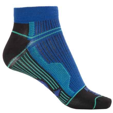Farm to Feet Roanoke Run Sporting Socks - Merino Wool, NanoGLIDE®, Ankle (For Women) in Surf The Web - Closeouts