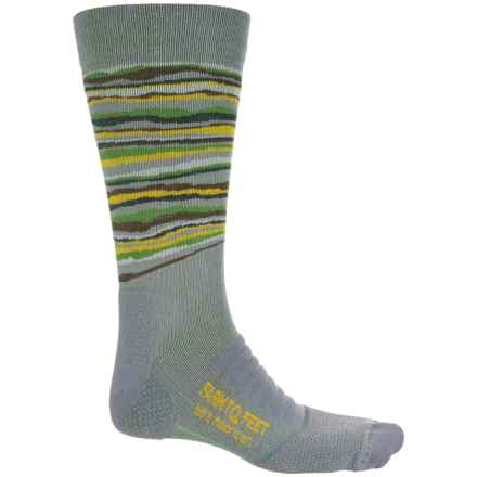 Farm to Feet Sauratown Socks - Merino Wool Blend, Crew (For Men) in Platinum - Closeouts