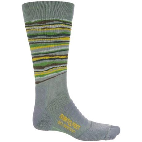 Farm to Feet Sauratown Socks - Merino Wool Blend, Crew (For Men) in Platinum