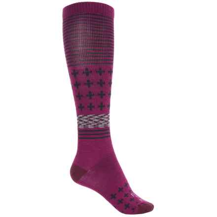 Farm to Feet Waynesboro Socks - Merino Wool, Over the Calf (For Women) in Berry/Zinfandel - Closeouts