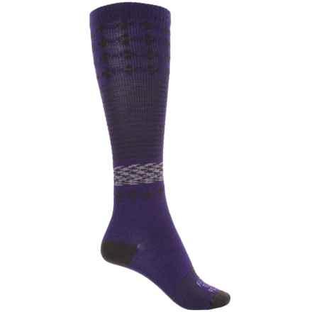 Farm to Feet Waynesboro Socks - Merino Wool, Over the Calf (For Women) in Parachute Purple/Brown - Closeouts