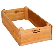 "Farmer D Eco Raised Bed Kit - 18x36"" in Cedar - Closeouts"