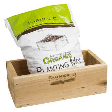 Farmer D Herb Box with Planting Mix in See Photo - Overstock