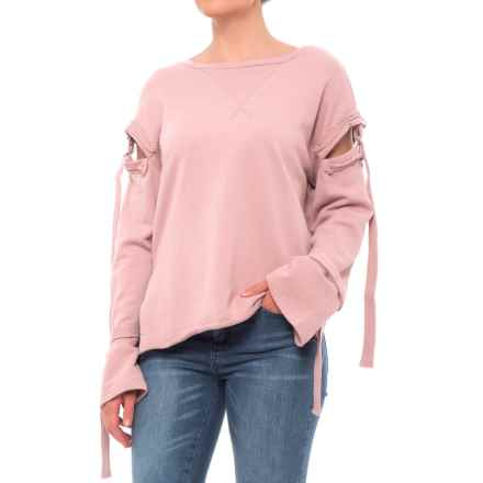 Fate Tie-Up Sweatshirt (For Women) in Mauve - Closeouts