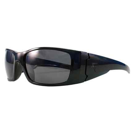Fatheadz Black Nitro Sport Sunglasses - Polarized in Black/Smoke - Overstock