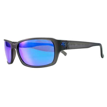 Fatheadz Jaxon Sport Sunglasses - Polarized in Grey/Blue - Overstock