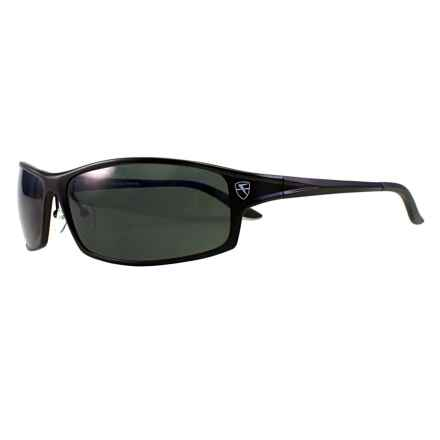 Fatheadz Knuckleduster XL Sport Sunglasses - Polarized in Black/Smoke - Overstock