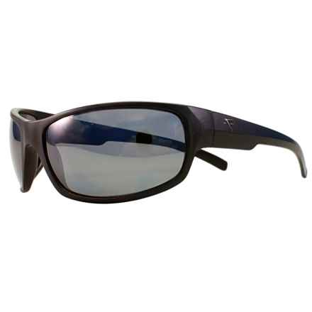 Fatheadz Slash Sport Sunglasses - Polarized in Black/Smoke - Overstock