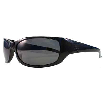 Fatheadz The Boss Sport Sunglasses - Polarized in Black/Smoke - Overstock